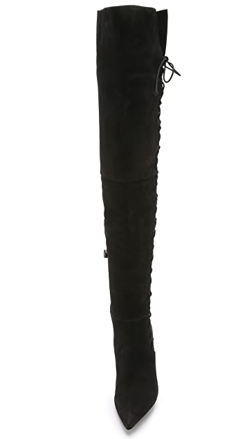 Schutz Dudalina Laced Thigh High Boots