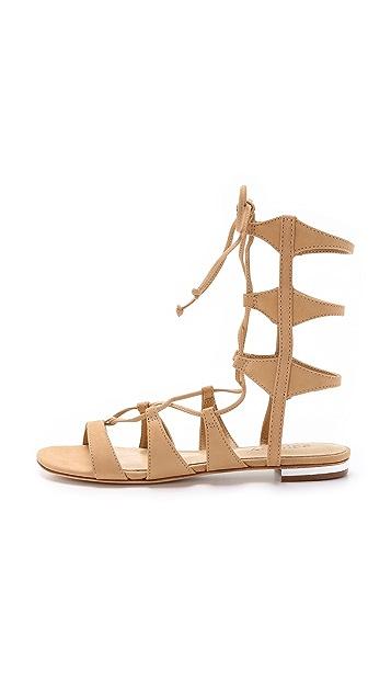 Schutz Erlina Lace Up Sandals Shopbop