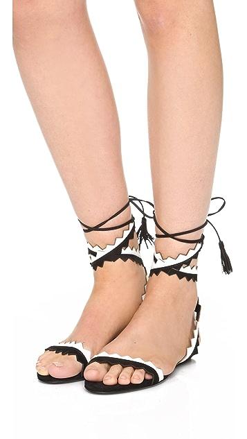 Schutz Leila Ankle Wrap Sandals