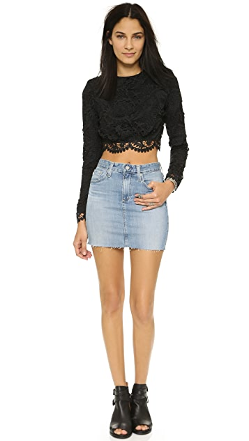 Stone Cold Fox Punk Cropped Blouse