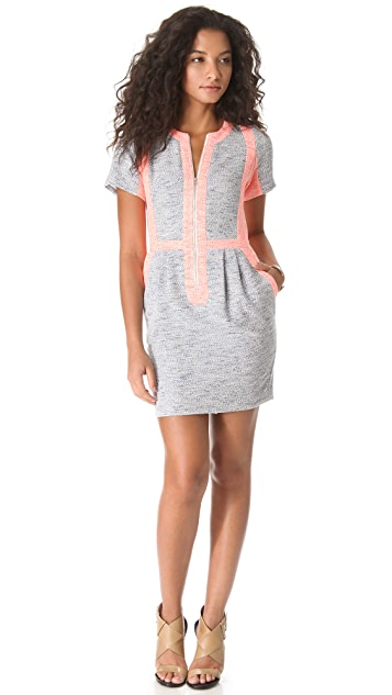 Sea Combo Zip Front Dress