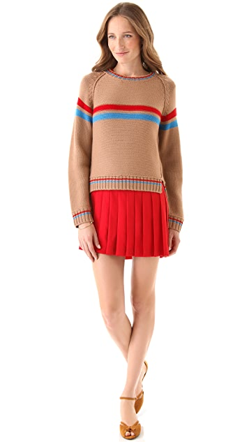 Sea Hand Knit Striped Sweater