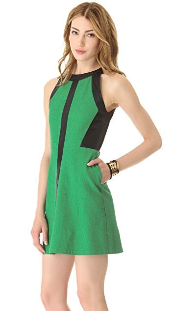 Sea Leather Cutout Tank Dress