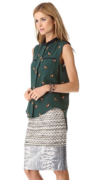 Sea Fox Sleeveless Blouse
