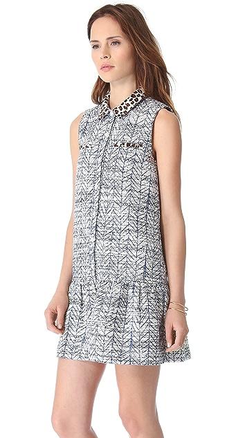 Sea Combo Ruffle Dress