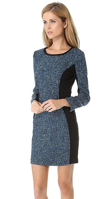 Sea Long Sleeve Combo Dress