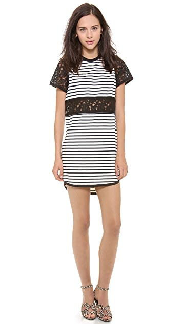 Sea Lace Cutout Dress