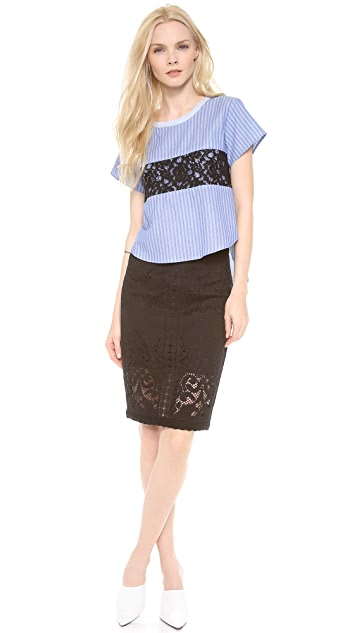 Sea Pencil Skirt