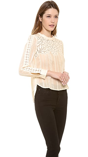 Sea Lace & Eyelet Blouse