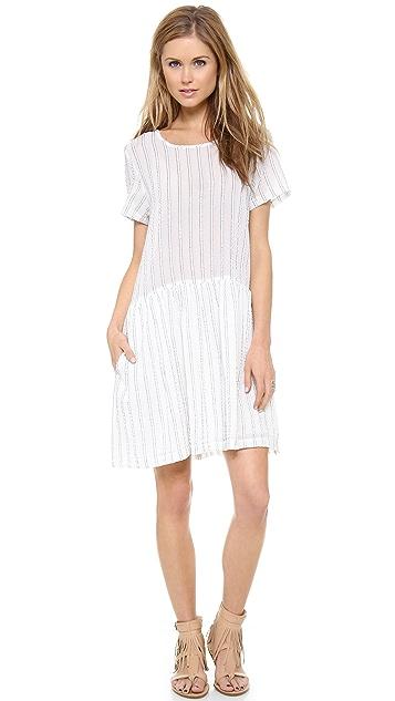 Sea Striped Gauze Popover Dress