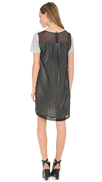 Sea Jersey Lace Dress