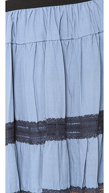 Sea Broomstick Lace Skirt