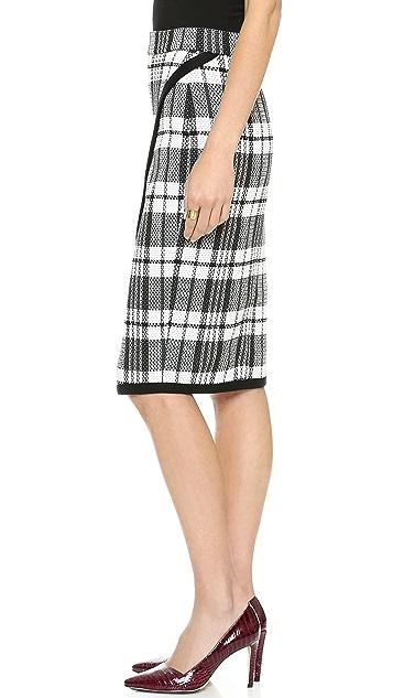 Sea Plaid Wrap Skirt