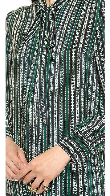 Sea Striped Tie Blouse