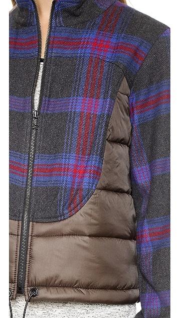 Sea Plaid Puffer Jacket