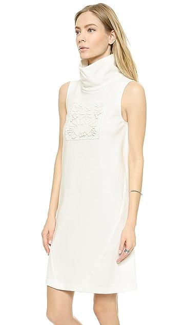 Sea Beaded Sleeveless Dress
