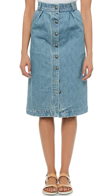 Sea Denim Skirt