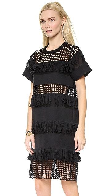 Sea Fringed Shirt Dress