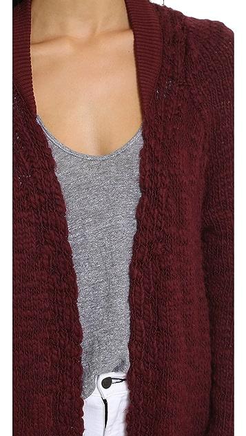 Sea Hand Knit Worn Sweater Coat