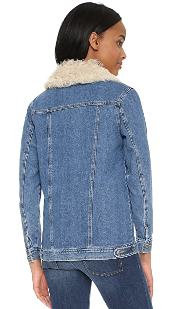 Sea Shearling Lined Quilted Jacket