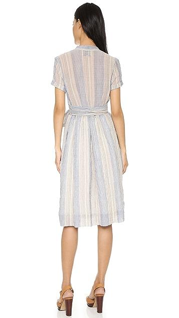 Sea Tie Belted Dress