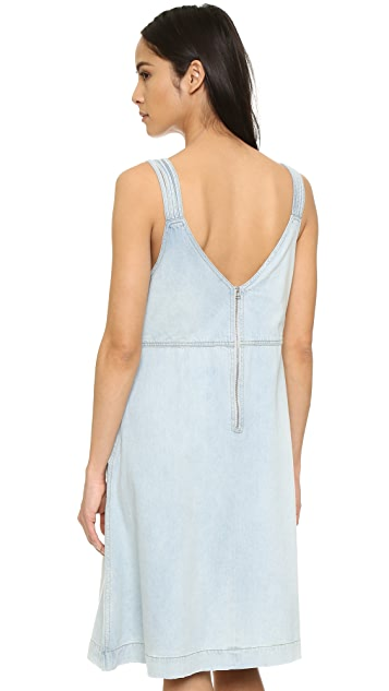 b78bda7e05 ... Sea Denim Braided Tank Dress ...