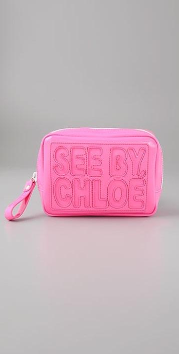 See by Chloe Zip File Cosmetic Bag