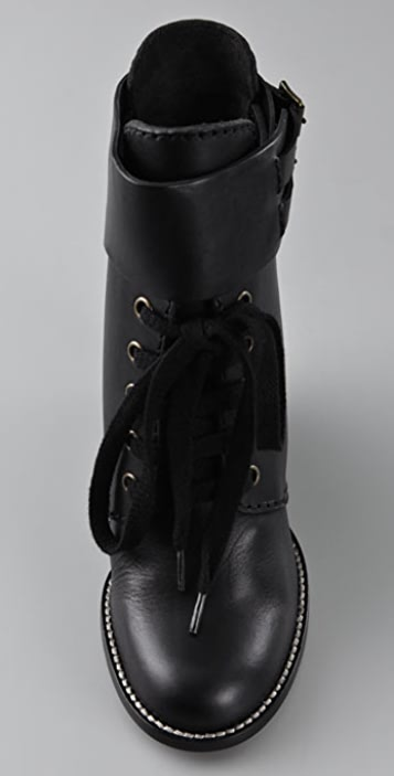27bd9045 Wedge Lace Up Booties