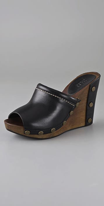 73c488c00fc See by Chloe Slide Clogs on Wooden Wedge