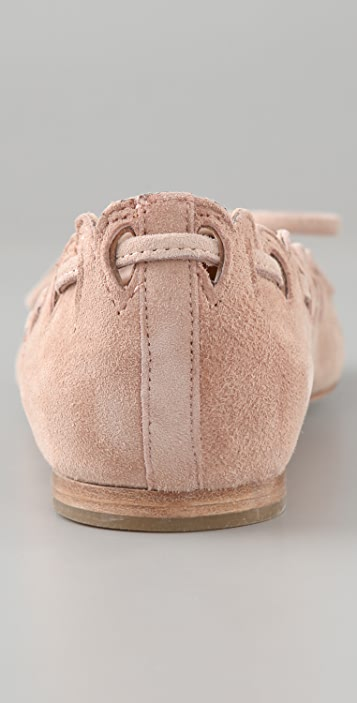 See by Chloe Scalloped Suede Flats