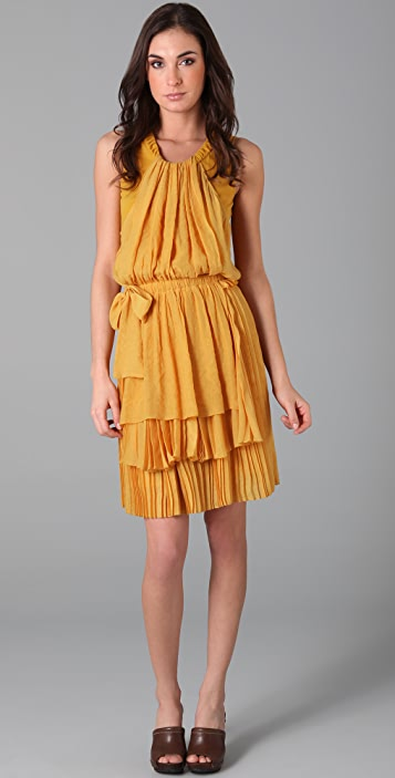See by Chloe Sleeveless Pleat Dress