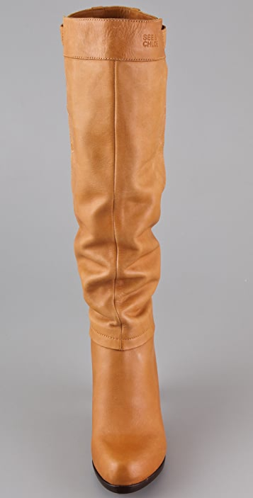 See by Chloe Convertible Cuff High Heel Boots
