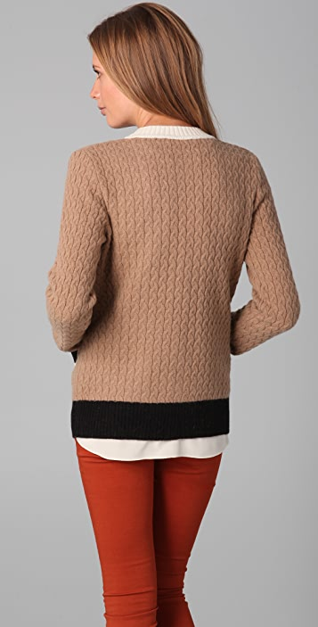 See by Chloe Colorblock Cardigan Sweater