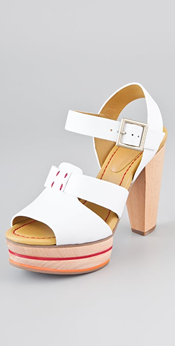 0e2c1e70b5e See by Chloe Wooden Platform Sandals