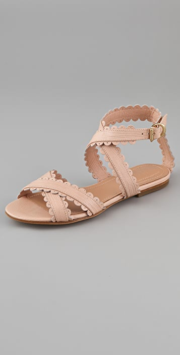 See By Chloé scalloped flat sandals fake sale online df1MqJG08E
