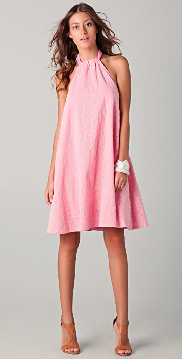 See by Chloe Bubble Burnout Halter Dress