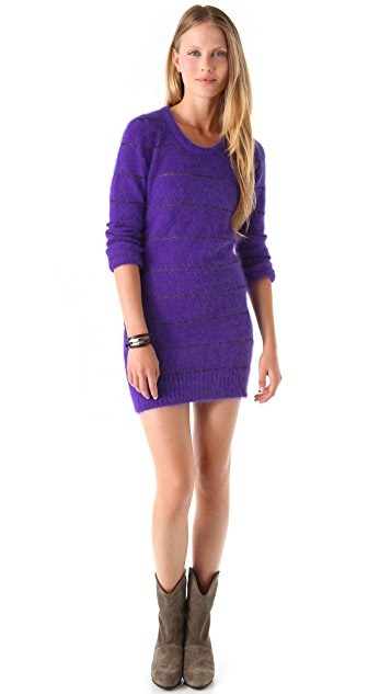 See by Chloe Striped Crew Neck Sweater Dress