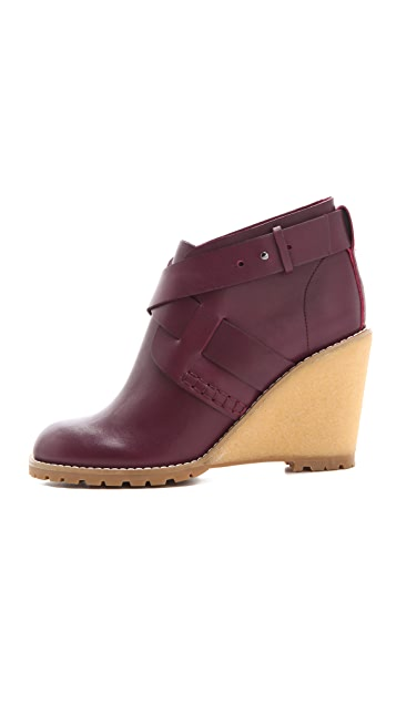 See by Chloe Crepe Wedge Booties