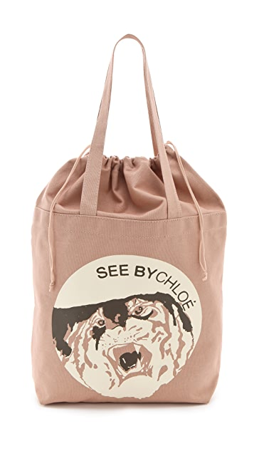 See by Chloe See by Tiger Medium Shopping Bag