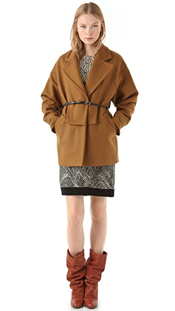 See by Chloe Oversized Coat with Neoprene Collar