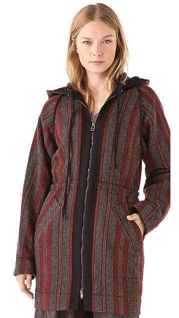 See by Chloe Hooded Drawstring Coat