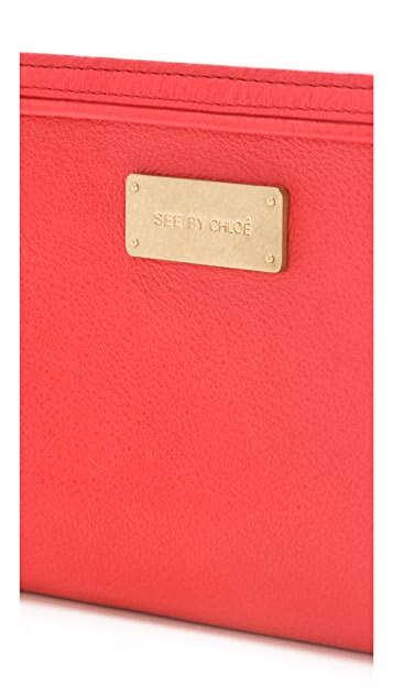 See by Chloe Apolline Big Zipped Clutch