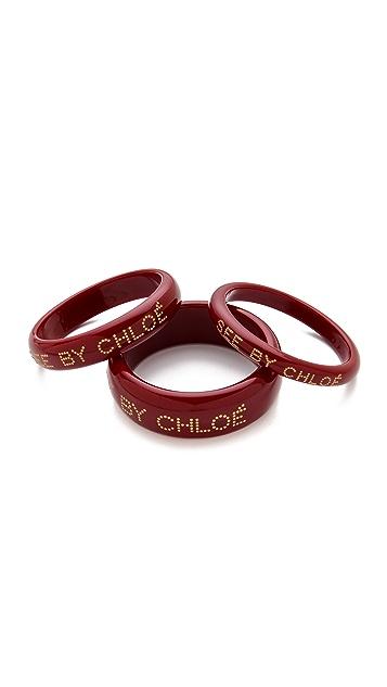 See by Chloe Logo Bangle Set