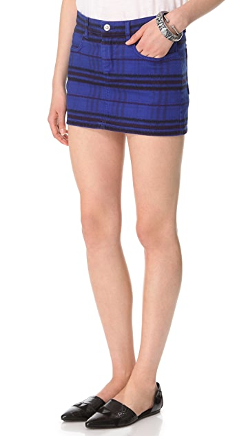 See by Chloe Tribal Print Denim Skirt
