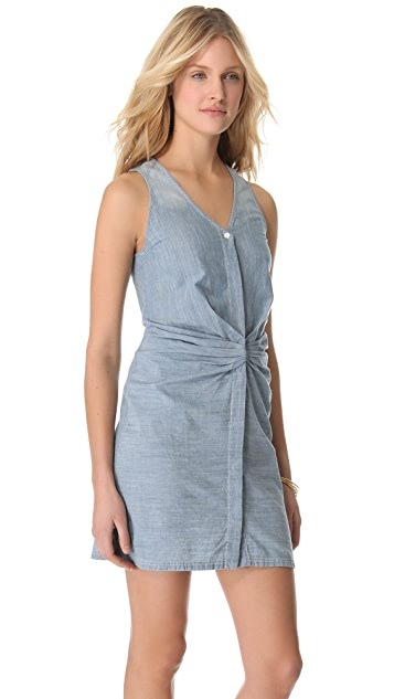 See by Chloe Chambray Gathered Dress