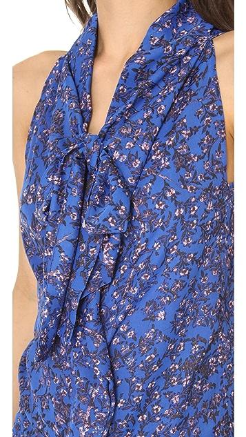 See by Chloe Tie Neck Printed Blouse