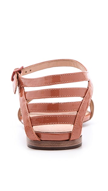 See by Chloe Patent Trim Flat Sandals
