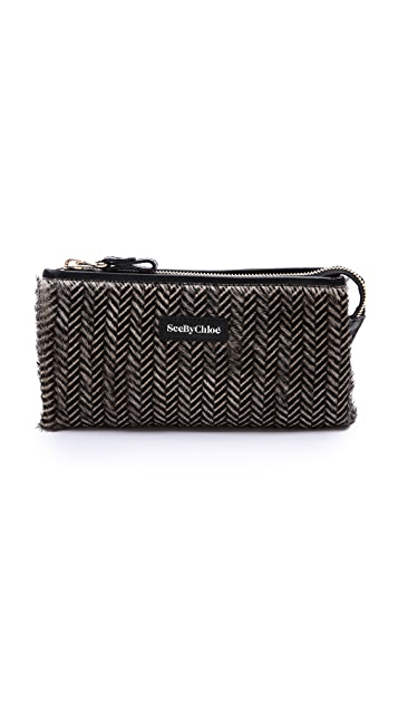 See by Chloe April Long Zip Haircalf Clutch