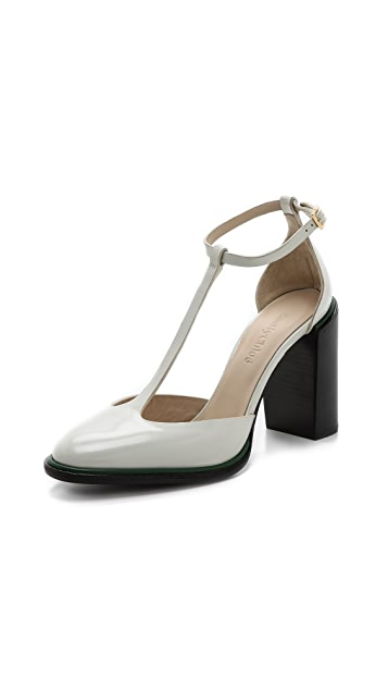 See by Chloe T Strap Chunky Heel Pumps
