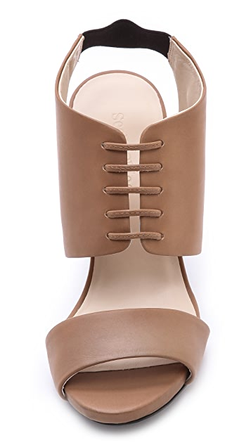 See by Chloe Lace Up Sling Sandals
